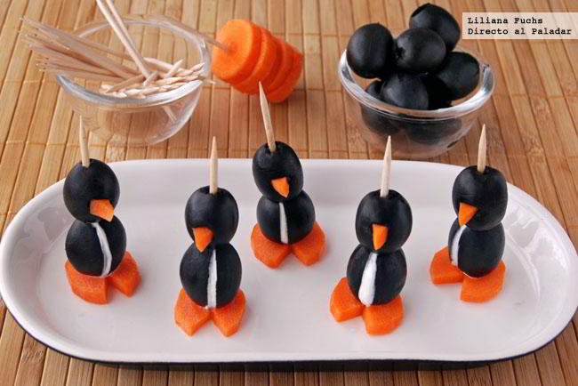 pingüinos rellenos de queso
