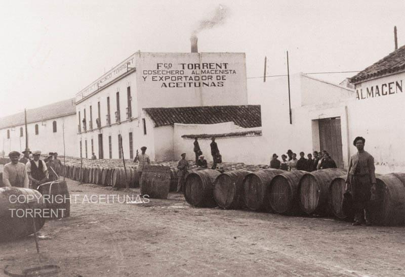 Fábrica de Aceitunas Torrent en 1914