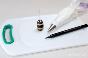 Add eyes to appetizers-bee