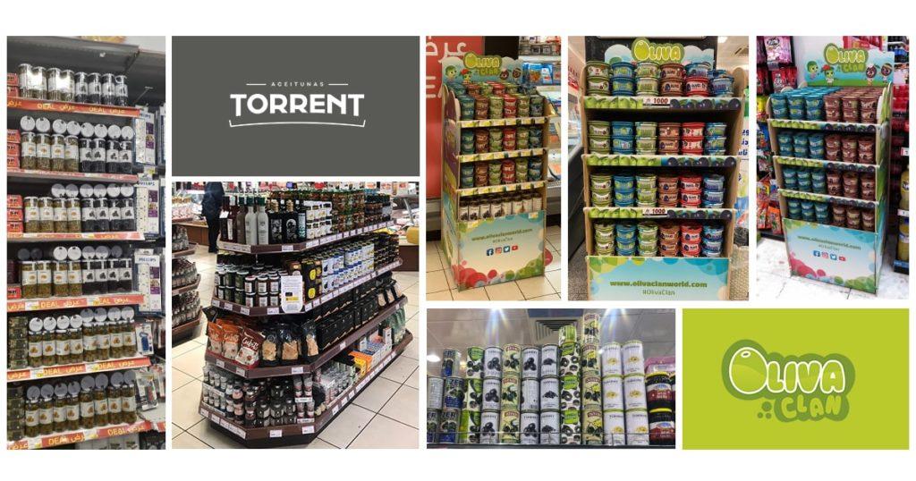 Productos en lineales, exportación Torrent