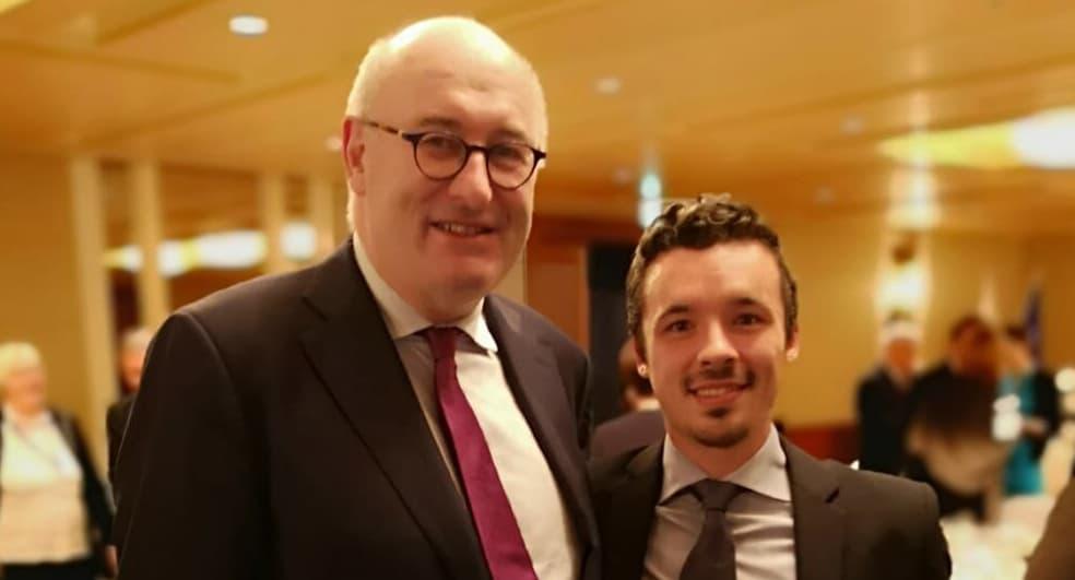 Torrent olives with the EU Commissioner Phil Hogan||